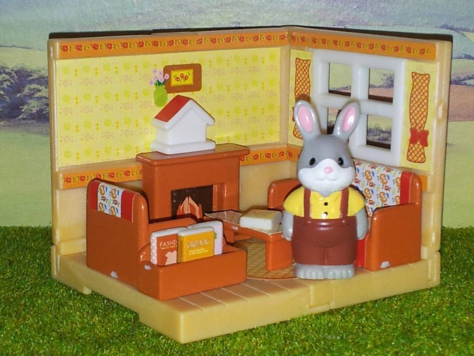 Sylvanian Families Cottontail Rabbit Father Living Rom furniture Kabaya JP