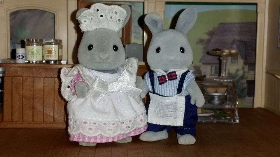 Sylvanian Families Blackcurrant Cafe Brighteyes Rabbit Family Flair EPOCH