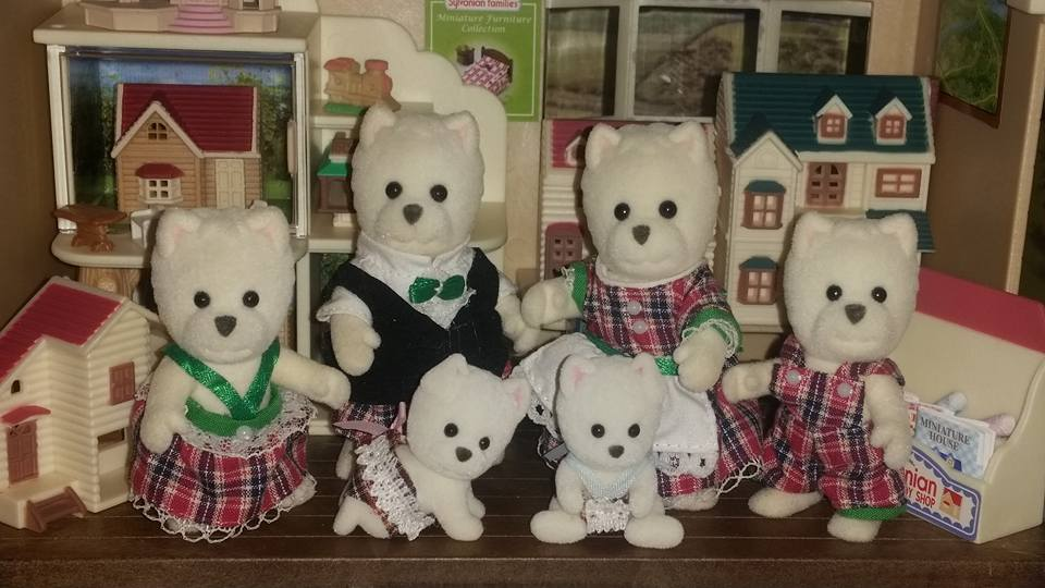 Sylvanian Families McWalkies West Highland Terrier Dog Family Scottish Tartan Flair EPOCH Sylvanian Shop Vintage