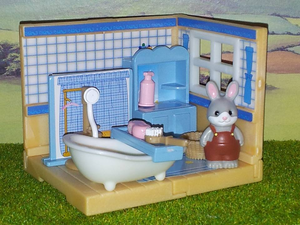 Sylvanian Families Cottontail Rabbit Brother Blue Bathroom Furniture Set Kabaya JP