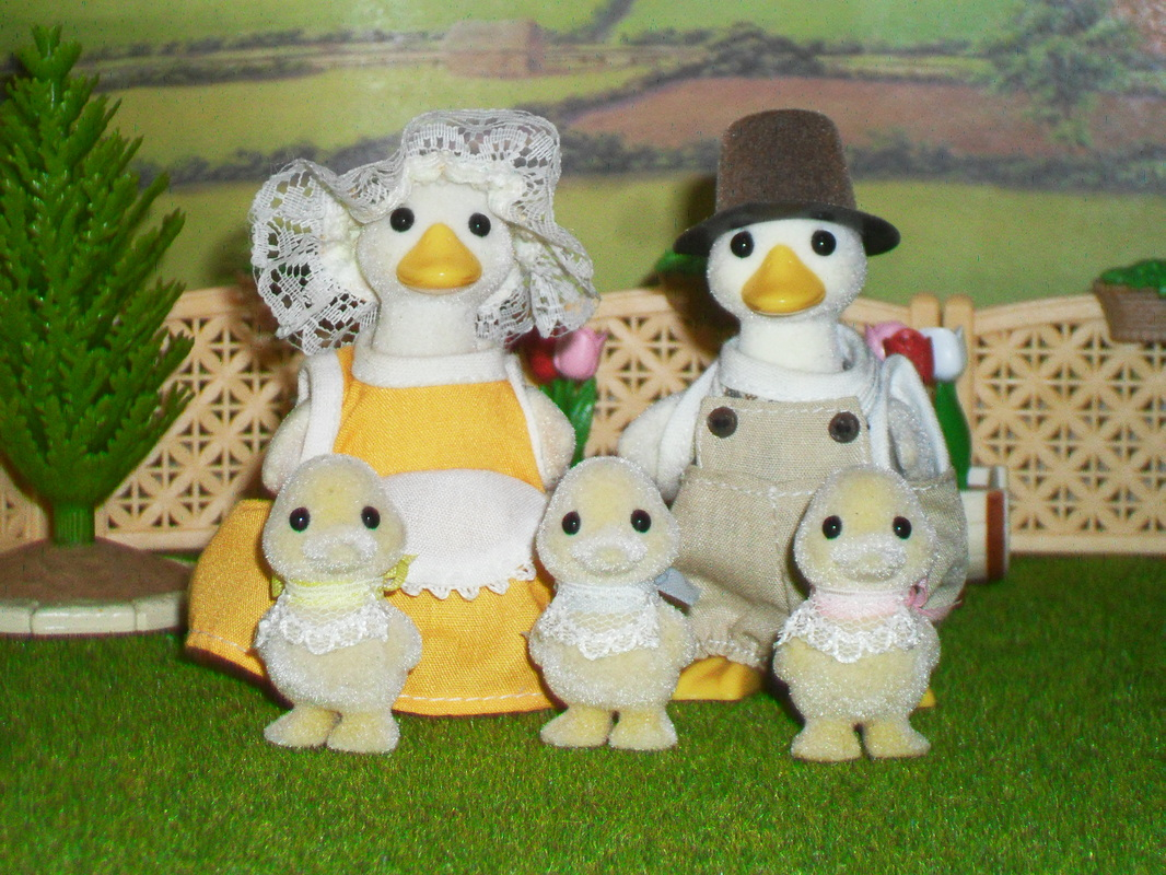 Sylvanian Families Puddleford Duck Family