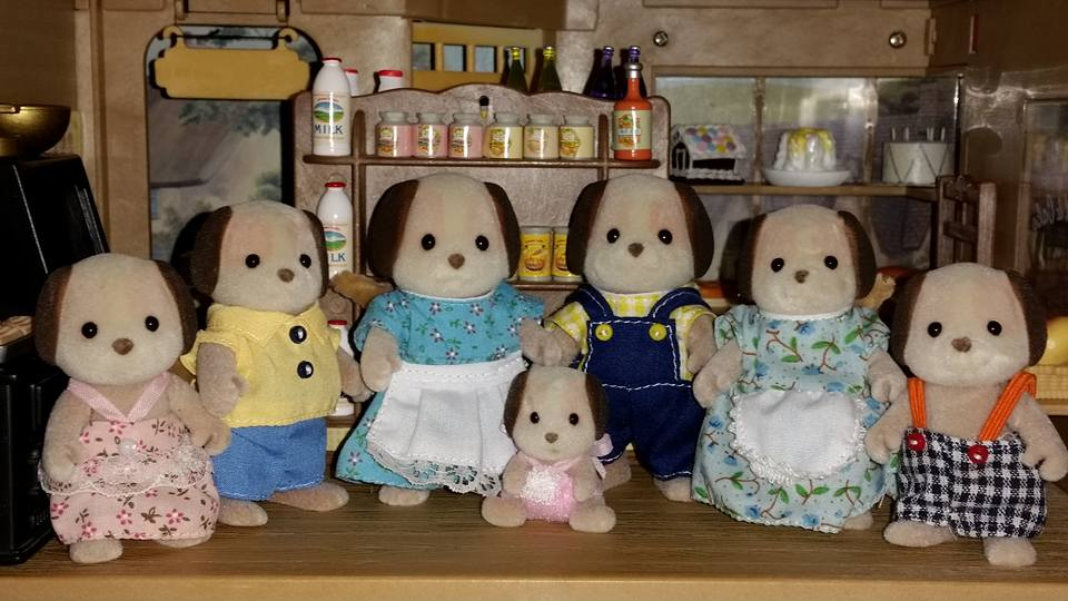 Sylvanian Families Beagle Dog Family Celebration Set Flair Tomy EPOCH