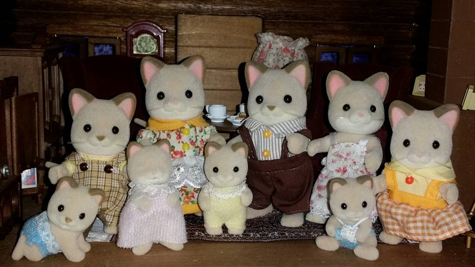 Sylvanian Families Keats Cat Family Flair EPOCH Tomy