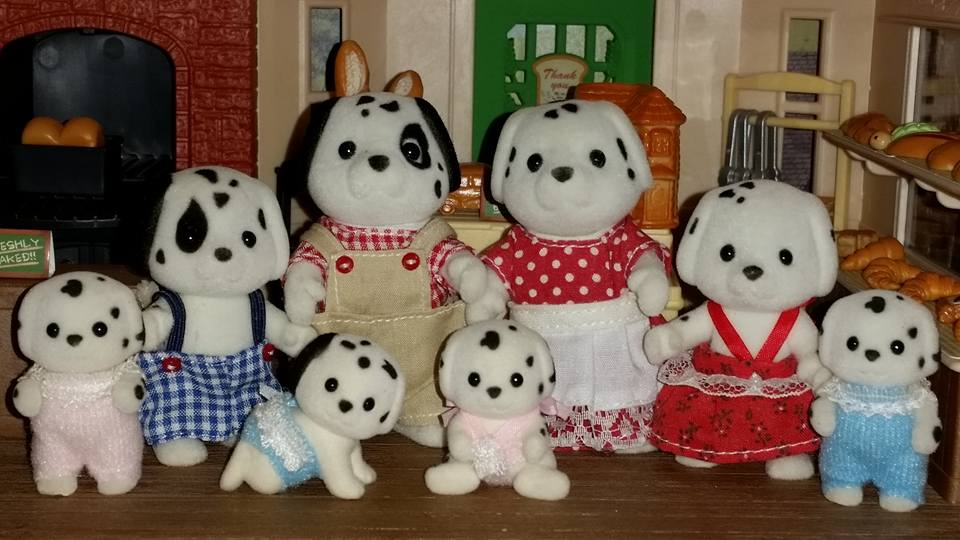 Sylvanian Families Kennelworth Dalmatian Dog Family Flair EPOCH Village Bakery Brick Oven Bakery